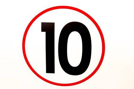 number ten: number ten on the car