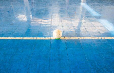 futsal: futsal ball on court indoor sport stadium