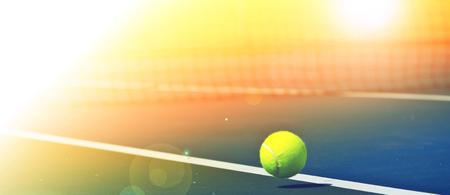 Tennis balls are falling ground. Standard-Bild