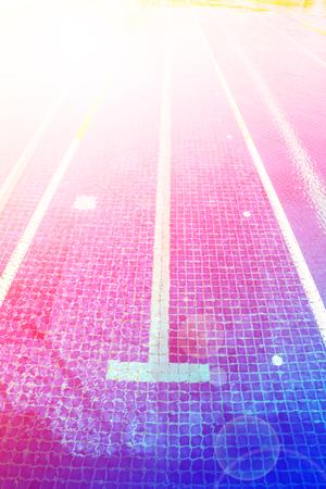 laps: Lane ropes in  swimming pool Stock Photo