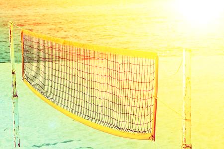 Beach volley net on the beach