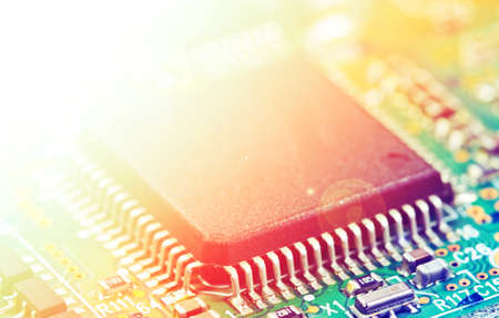 extremely: Detail of electronic board ,Macro with extremely shallow dof.