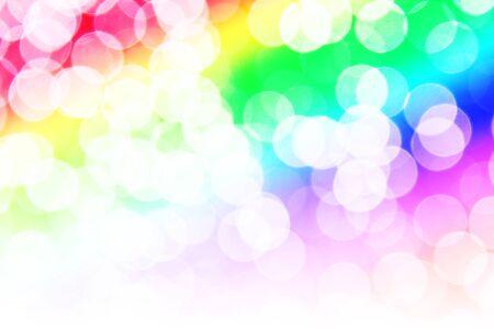 heptagon: beautiful bokeh lights for background. Stock Photo