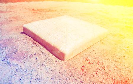 infield: base on infield of a baseball field