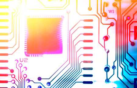 conductivity: macro photo of electronic circuit