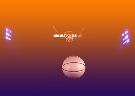 floodlights: Basketball  court floor as a sports with floodlights