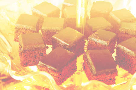 fancy cake: fancy cake chocolate with color filters Stock Photo