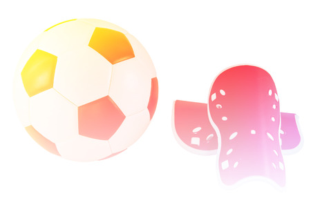 shin: soccer ball and shin guard with color filters