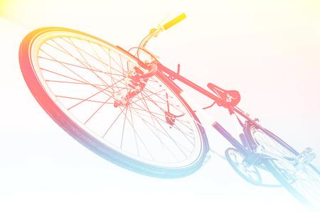 clavados: bicicleta fija del engranaje con filtros de color