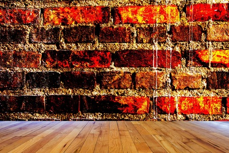 ancient brick wall: Ancient brick wall background