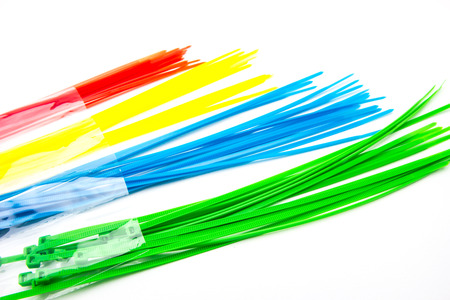 Nylon Cable Ties Stock Photo