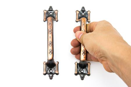 handles: Door handles on white background