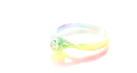 dimond: ring dimond with color filters Stock Photo