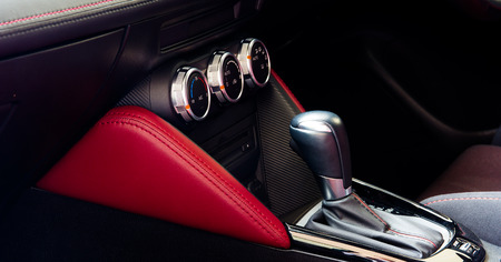 sumptuous: interior car -  gear of car Stock Photo