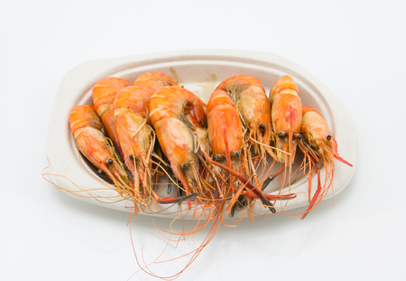steaming shrimp on the plate