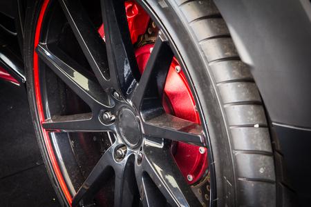 alloy: car alloy wheel Stock Photo