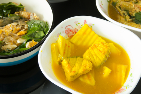 Thai Sour Curry Soup,Thai food Kaeng Som