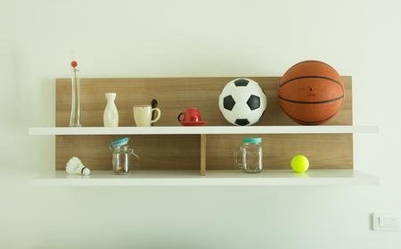 shelf: Decorated interior on shelf