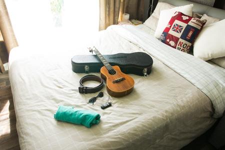 modern bedroom: Modern interior in bedroom Stock Photo