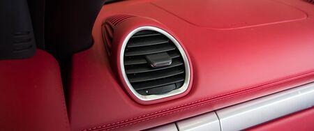 inwards: Luxury car Interior, Car air conditioner Stock Photo