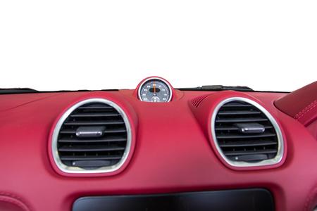 inwards: Luxury car Interiort dashboard Stock Photo