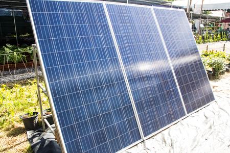 solar panel in the garden Imagens