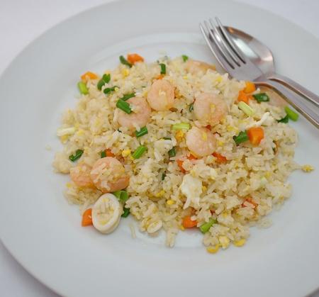 fried shrimp: FRIED RICE Stock Photo