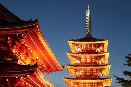 浅草の浅草寺日本