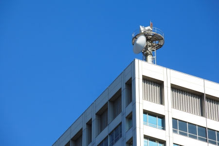 wireless tower: Cell tower and radio antenna