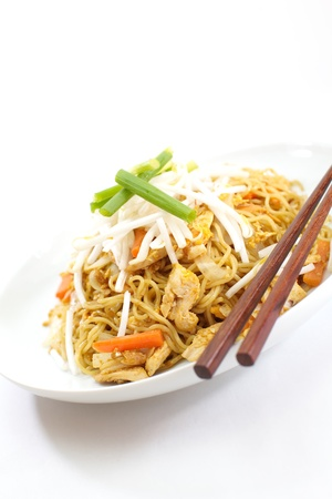 chow: Chinese fried noodles
