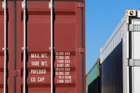 shipping containers: Container truck