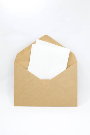Envelope and note Stock Photo - 16754789