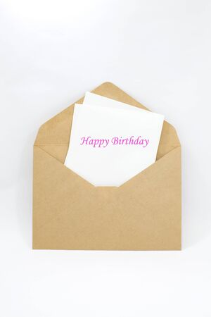 Happy birthday note Stock Photo - 16748324