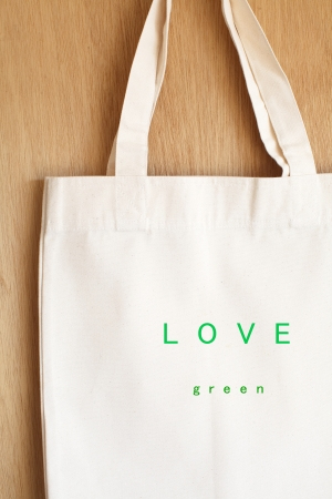 Flax eco bag Stock Photo