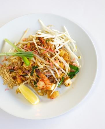 Thai food padthai fried noodle with shrimp Stock Photo - 17478623