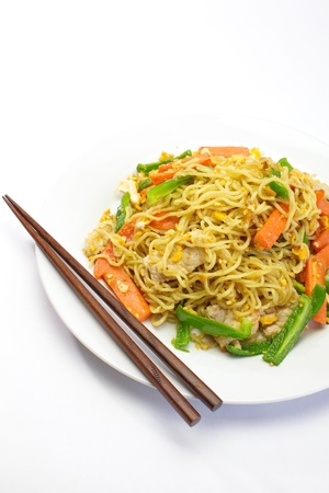 Chinese fried noodles Stock Photo - 17540596