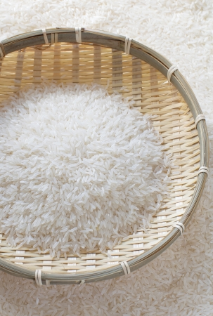 Uncooked white rice Stock Photo - 17663219