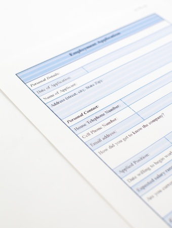blank employment application stock photo picture and royalty free