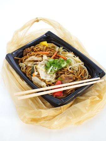 yakisoba: yakisoba, japanese stir-fried noodles in lunch box