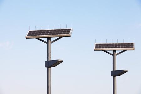 Street Lamp with Solar Panel  photo