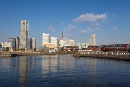 Vue panoramique de Yokohama au Japon
