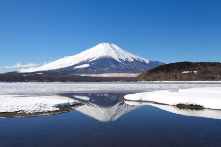 unesco: Mountain Fuji in winter