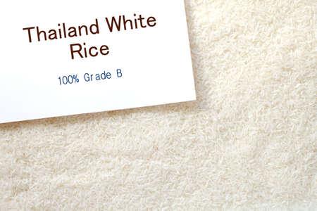 Uncooked white rice  photo