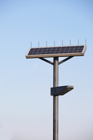 Street Lamp with Solar Panel  photo