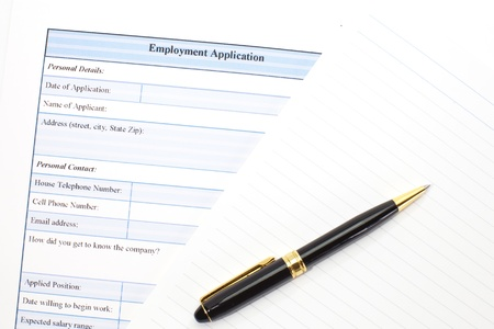 personal data privacy issues: Application form concept for applying for a job