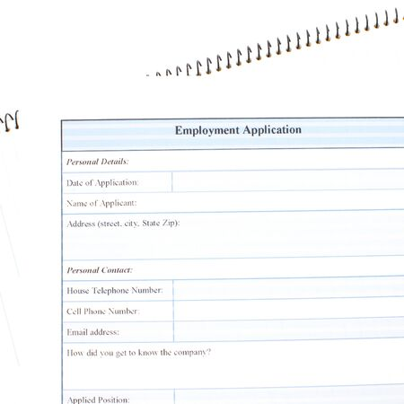 Application form concept for applying for a job photo