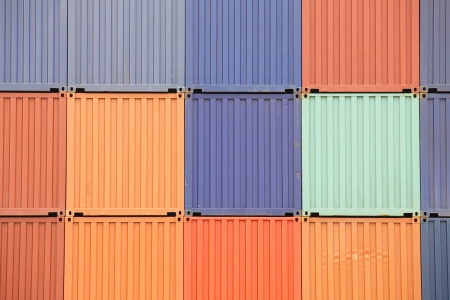 Freight shipping containers  photo