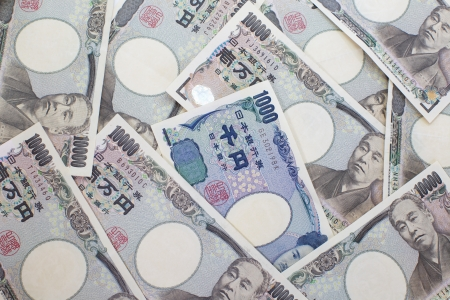 日本の 1000年円ノート。日本の通貨