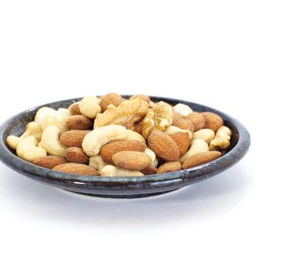 Close up image of fresh mixed nuts