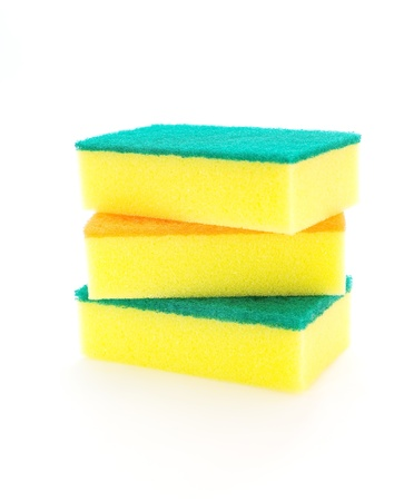 sponge over white  photo